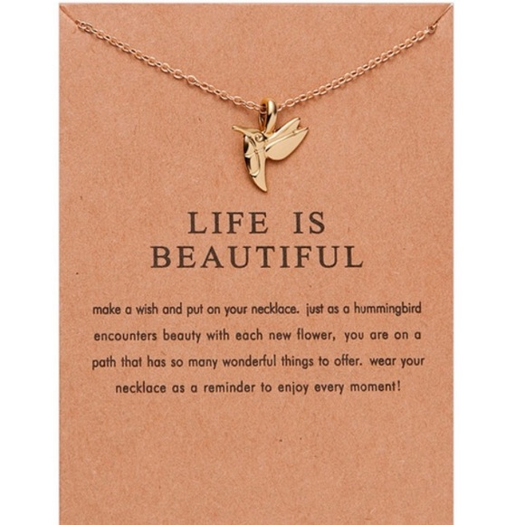e7543bd72 Jewelry | 3 For 25 Life Is Beautiful Gold Dainty Necklace | Poshmark